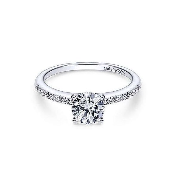 White Gold Diamond Engagement Ring Sam Dial Jewelers Pullman, WA