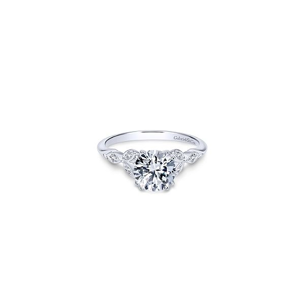 FAIRYTALE INSPIRED ENGAGEMENT RING IN WHITE GOLD Sam Dial Jewelers Pullman, WA
