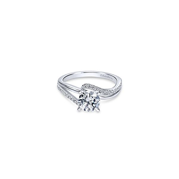 White Gold Engagement Ring Sam Dial Jewelers Pullman, WA