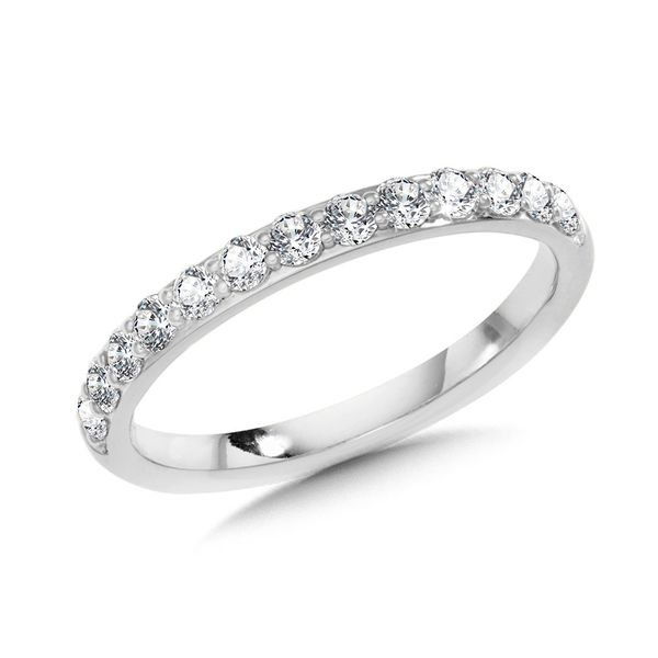 LADIES WHITE GOLD DIAMOND WEDDING BAND Sam Dial Jewelers Pullman, WA