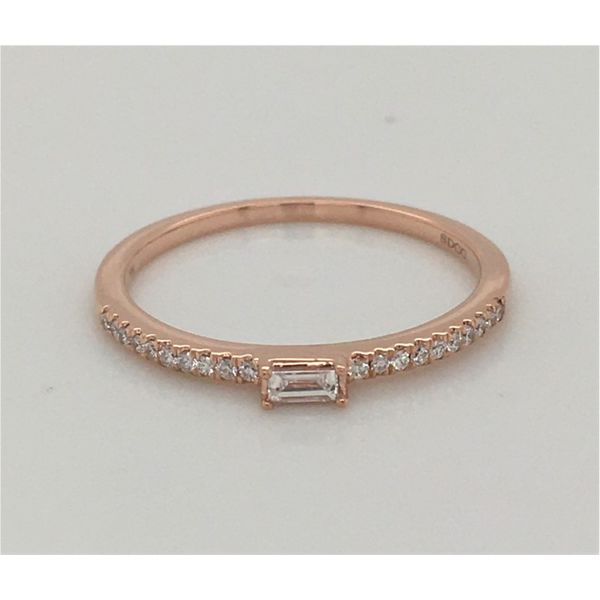 LADIES ROSE GOLD DIAMOND STACKABLE FASHION RING Sam Dial Jewelers Pullman, WA