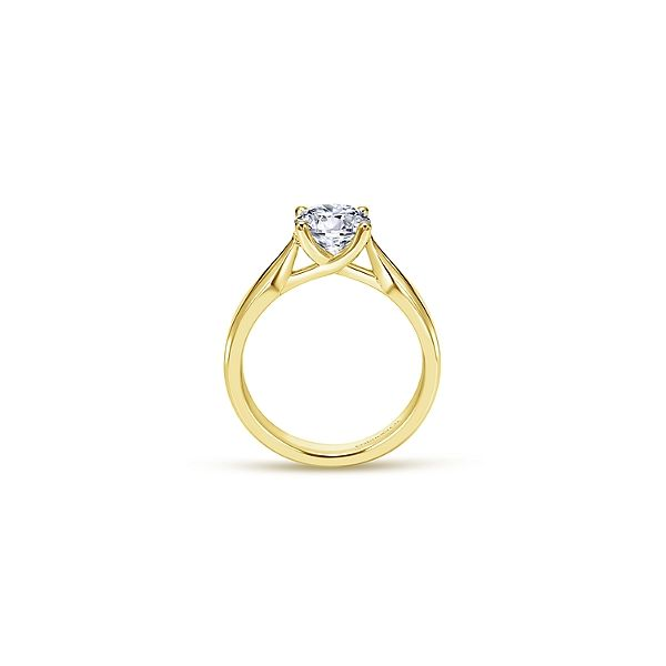 Yellow Gold Solitaire Engagement Ring Sam Dial Jewelers Pullman, WA