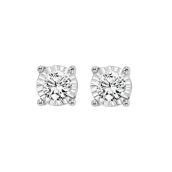 ILLUSION SET 1/4 CARAT DIAMOND STUD EARRINGS Sam Dial Jewelers Pullman, WA