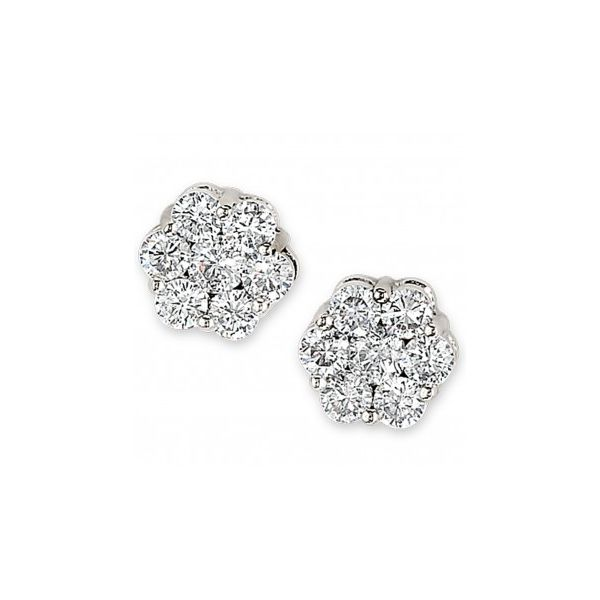DIAMOND FLOWER CLUSTER EARRING Sam Dial Jewelers Pullman, WA