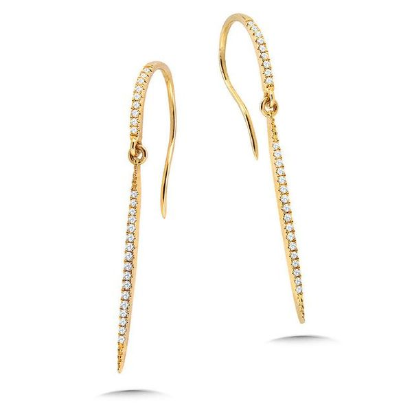 Yellow Gold Diamond Drop Earrings Sam Dial Jewelers Pullman, WA