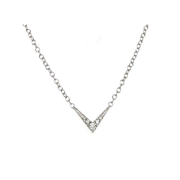 White Gold Diamond 'V' Pendant Sam Dial Jewelers Pullman, WA
