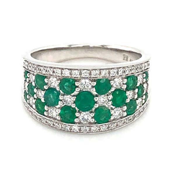 Emerald Diamond Statement Ring Sam Dial Jewelers Pullman, WA