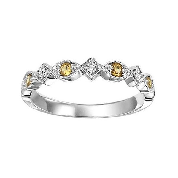CITRINE AND DIAMOND STACKABLE RING Sam Dial Jewelers Pullman, WA