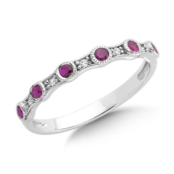 Ruby Stacking Band Sam Dial Jewelers Pullman, WA