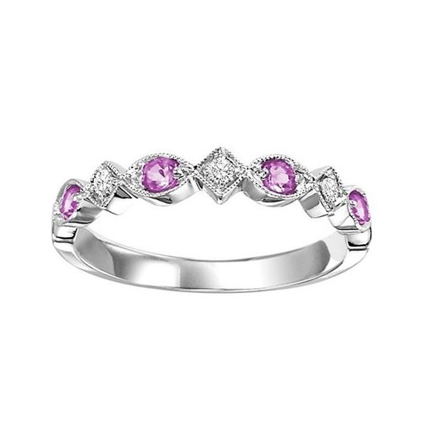 PINK SAPPHIRE AND DIAMOND STACKABLE Sam Dial Jewelers Pullman, WA