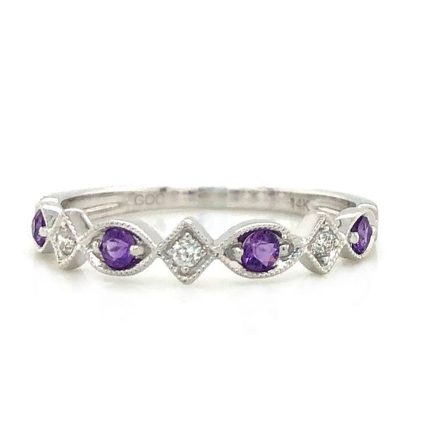 AMETHYST DIAMOND STACKABLE RING Sam Dial Jewelers Pullman, WA