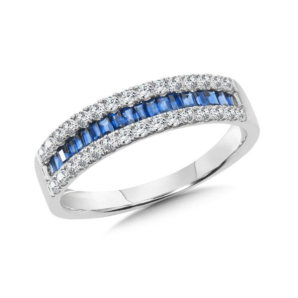 THREE RIVER DIAMOND AND SAPPHIRE RING Sam Dial Jewelers Pullman, WA