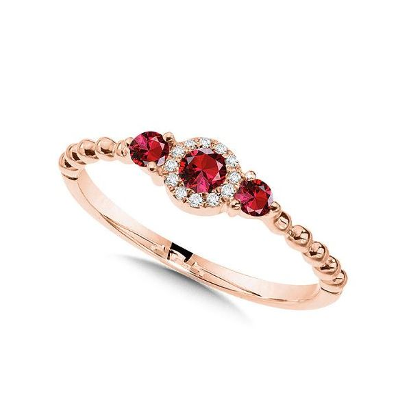 ROSE GOLD RUBY RING Sam Dial Jewelers Pullman, WA