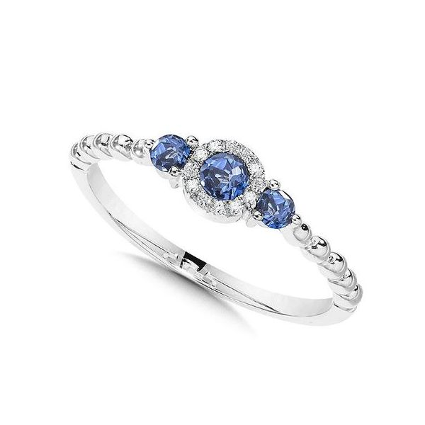 WHITE GOLD SAPPHIRE RING Sam Dial Jewelers Pullman, WA