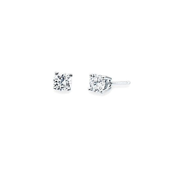 14KW NATURAL WHITE ZIRCON 5.5MM 1.92CTW STUDS Sam Dial Jewelers Pullman, WA
