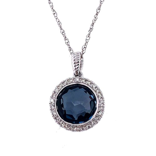 LONDON TOPAZ HALO PENDANT Sam Dial Jewelers Pullman, WA