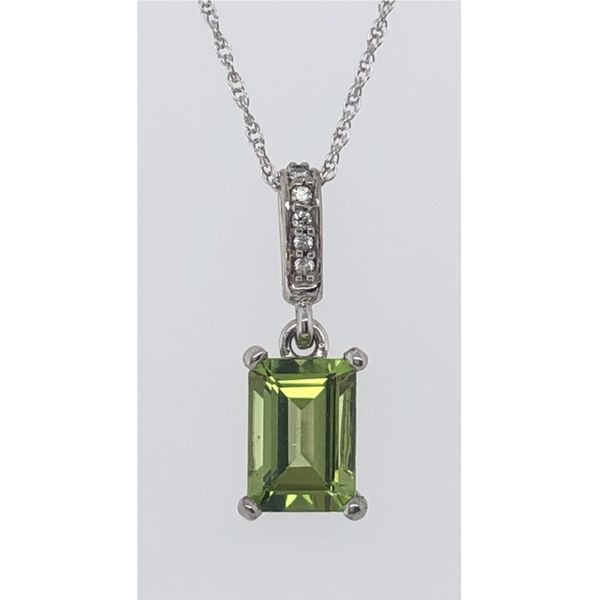 EMERALD CUT PERIDOT NECKLACE Sam Dial Jewelers Pullman, WA