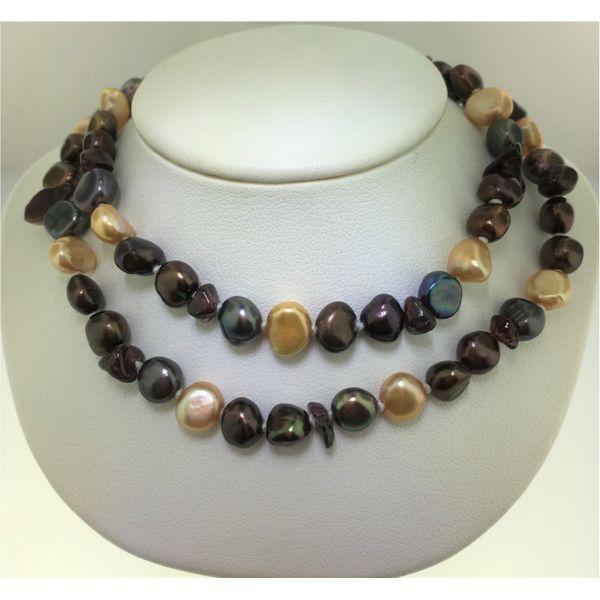 339d50e4a02d0 Multicolored Baroque Pearl Necklace