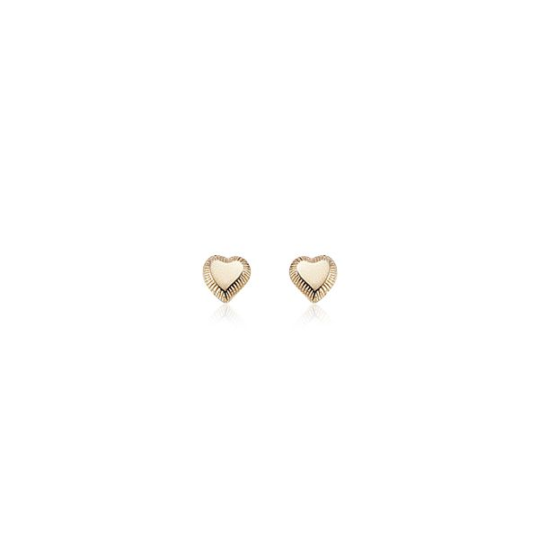 Yellow Gold Heart Earrings Sam Dial Jewelers Pullman, WA