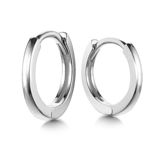 WHITE GOLD SMALL HOOPS Sam Dial Jewelers Pullman, WA