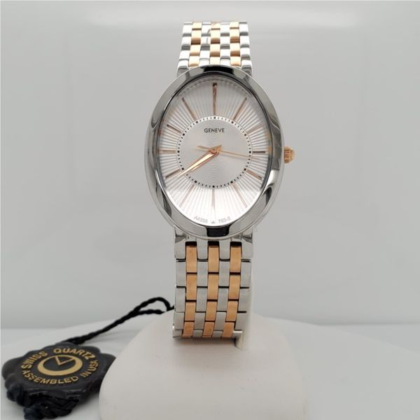 SWISS  QUARTZ OVAL 2-TONED ROSE & STAINLESS Sam Dial Jewelers Pullman, WA