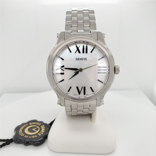 STAINLESS MOTHER OF PEARL LRG WATCH Sam Dial Jewelers Pullman, WA