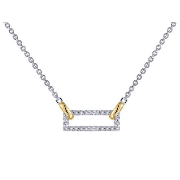 Silver Rectangle Necklace Sam Dial Jewelers Pullman, WA