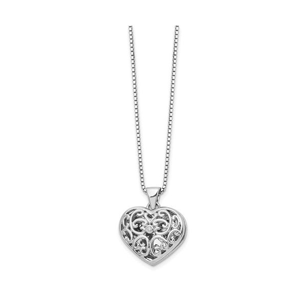 STERLING SILVER HEART LOCKET NECKLACE Sam Dial Jewelers Pullman, WA