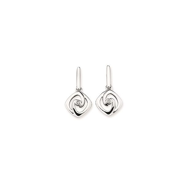 Silver Diamond Earrings Sam Dial Jewelers Pullman, WA
