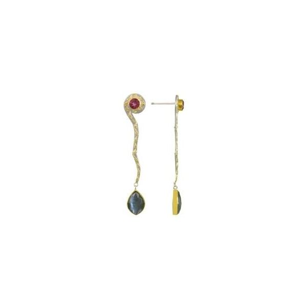 Vermeil Multi-Stone Dangle Earrings Sam Dial Jewelers Pullman, WA