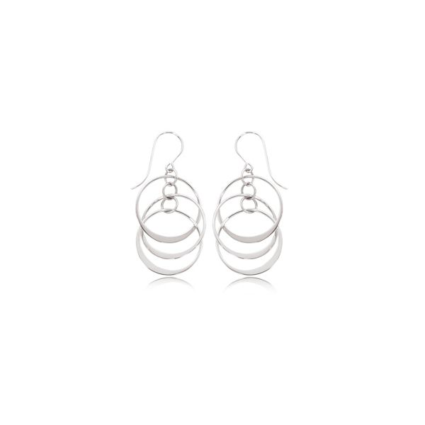 Silver Circle Earrings Sam Dial Jewelers Pullman, WA
