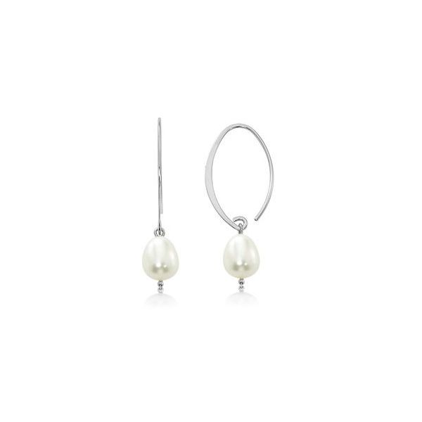 Silver Pearl Earrings Sam Dial Jewelers Pullman, WA