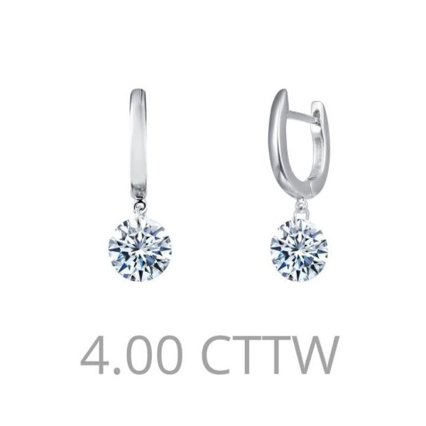 FRAMELESS DROP SOLITAIRE EARRINGS Sam Dial Jewelers Pullman, WA