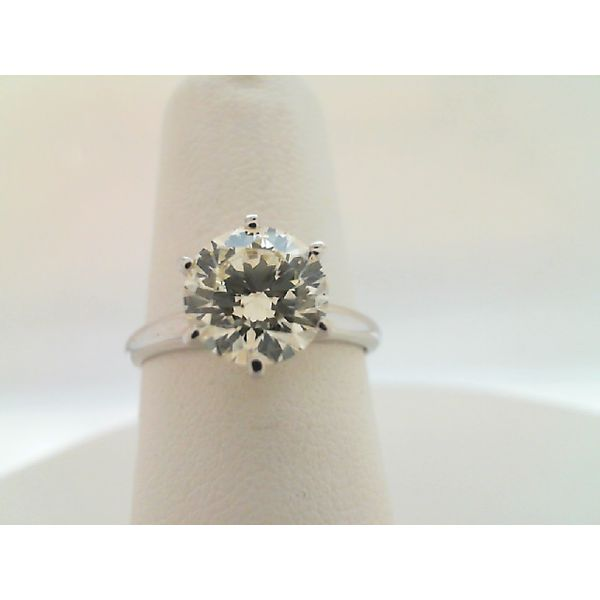 14KT WHITE GOLD 1.72CT. SI1 J/K ROUND SIX PRONG DIAMOND SOLITAIRE ENGAGEMENT RING Sanders Diamond Jewelers Pasadena, MD