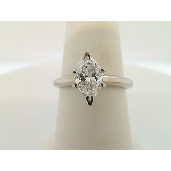 14kt White Gold 1.08ct Marquise Diamond Solitaire Ring Sanders Diamond Jewelers Pasadena, MD