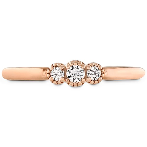 18kt Rose Gold Behati Sweetheart Band Designed By Hayley Paige For Hearts On Fire Sanders Diamond Jewelers Pasadena, MD