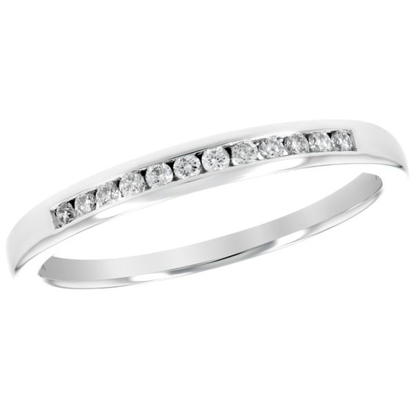 14kt White Gold 0.25ctdw Round Diamond Channel Set Band Sanders Diamond Jewelers Pasadena, MD