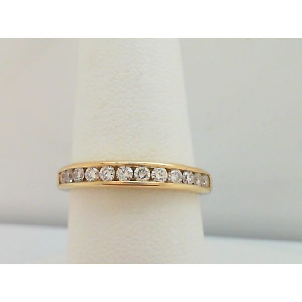 14KT. YELLOW GOLD 0.33CTDW 12 ROUND DIAMOND CHANNEL SET WEDDING RING SIZE 7 Sanders Diamond Jewelers Pasadena, MD