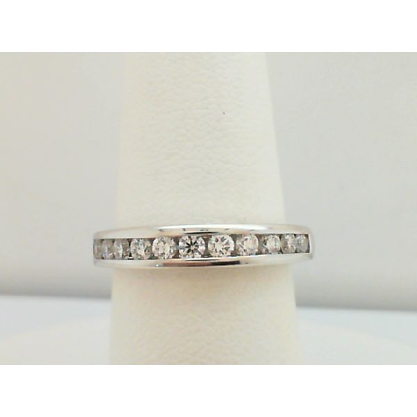 14KT. WHITE GOLD 0.50CTDW DIAMOND CHANNEL WEDDING RING Sanders Diamond Jewelers Pasadena, MD