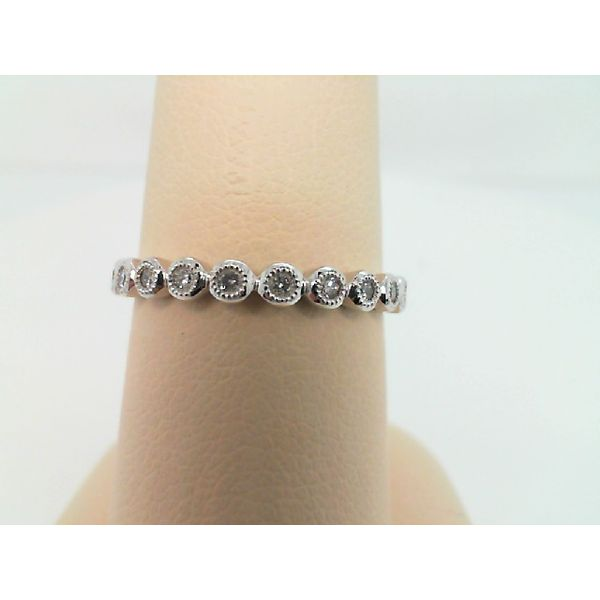 10kt White Gold Diamond Stackable Ring Sanders Diamond Jewelers Pasadena, MD