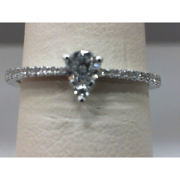 14kt White Gold Pear Shape Cluster Ring Sanders Diamond Jewelers Pasadena, MD