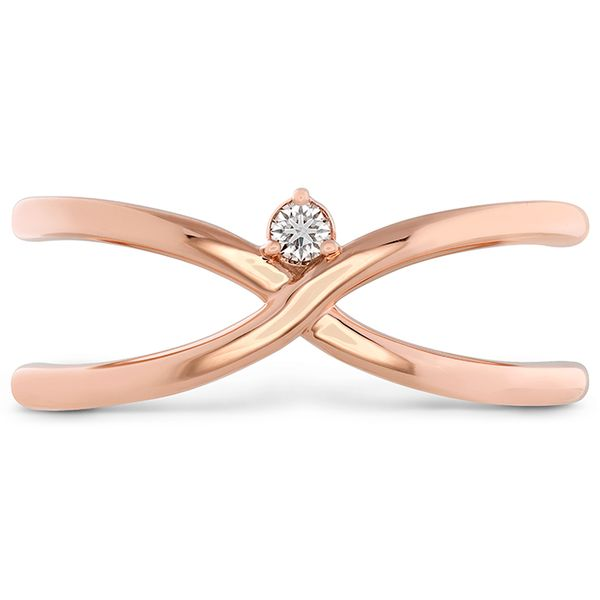 18kt Rose Gold Love Code-Love Wrap Ring Designed Sanders Diamond Jewelers Pasadena, MD
