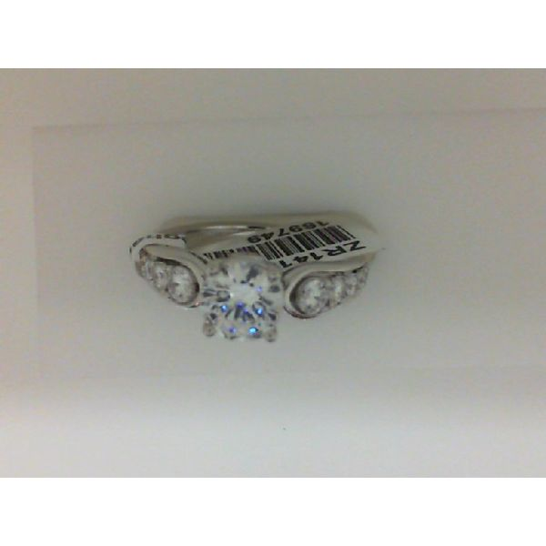 14kt White Gold Diamond Semi Mounting Ring Sanders Diamond Jewelers Pasadena, MD