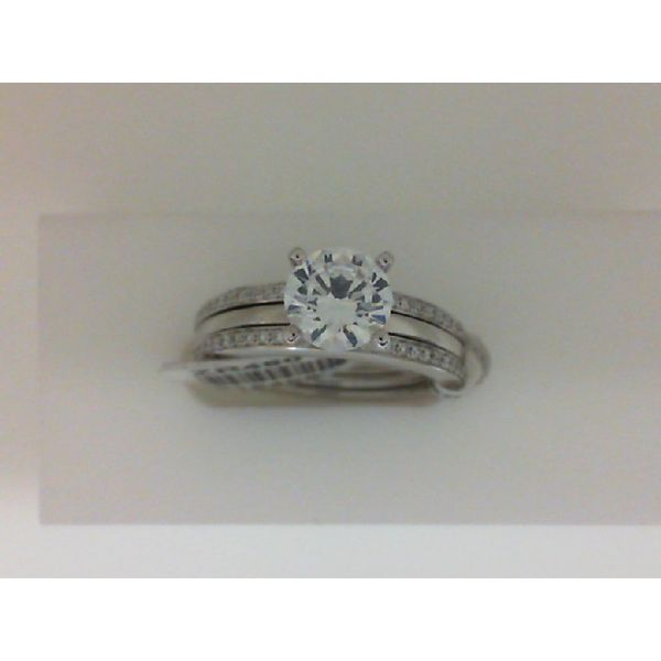14kt White Gold Two Piece Diamond Semi Mounting Ring Set Sanders Diamond Jewelers Pasadena, MD