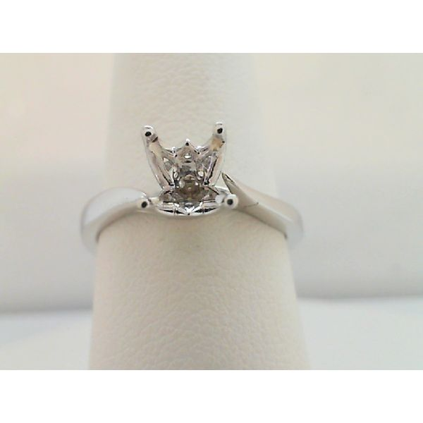14kt White Gold Solitaire Semi Mounting Ring Sanders Diamond Jewelers Pasadena, MD