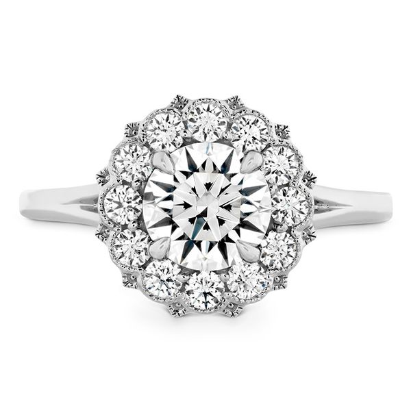 18kt White 0.40ct Liliana  Diamond Halo Semi Mounting Sanders Diamond Jewelers Pasadena, MD