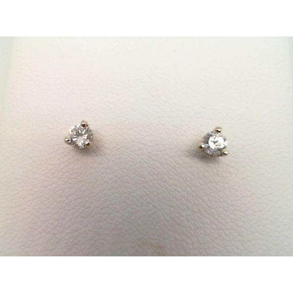 14KT WHITE GOLD 0.20CTW SI1 G/H DIAMOND STUDS WITH SCREW POSTS Sanders Diamond Jewelers Pasadena, MD