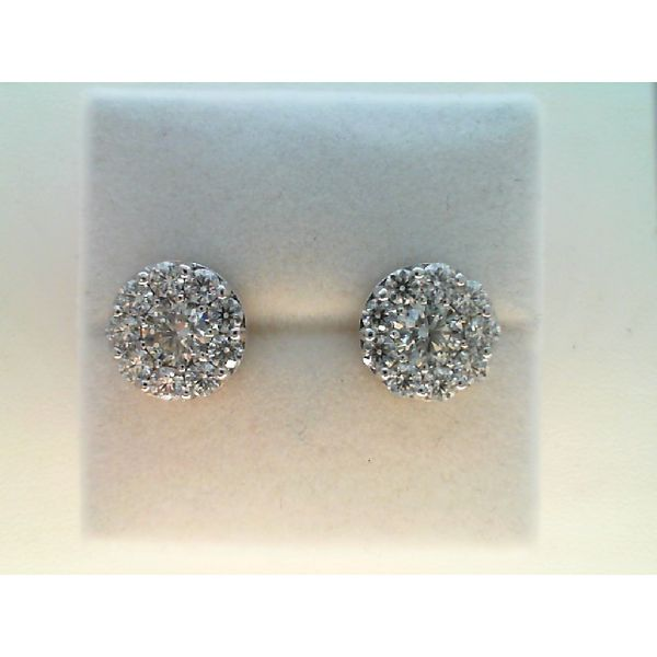 18KT WHITE GOLD 3.0CTDW VS-SI G-H FULFILLMENT ROUND DIAMOND STUDS BY HEARTS ON FIRE Sanders Diamond Jewelers Pasadena, MD