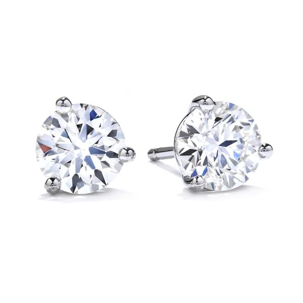 18kt White Gold 0.33Ctdw I/J Vs2 Diamond Stud Earrings By Hearts On Fire Sanders Diamond Jewelers Pasadena, MD