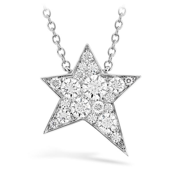 18kt White Gold 0.15Ctdw Illa Cosmic Diamond Necklace By Hearts On Fire 18
